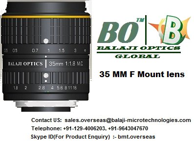 "35 MM & 50 MM F MOUNT MACHINE VISION LENS - BALAJI OPTICS- ""BO LENS"""