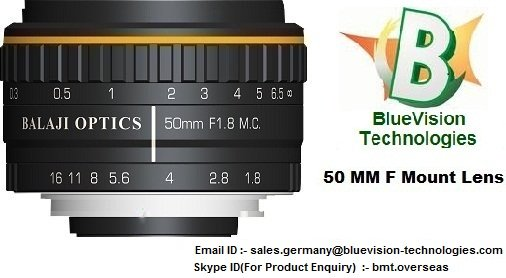 35 MM & 50 MM F-MOUNT MACHINE VISION LENSES – BLUEVISION TECHNOLOGIES (BVT)