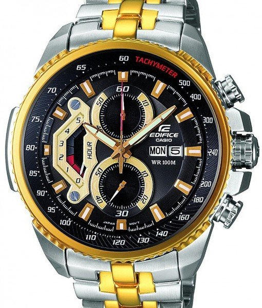 Casio Edifice Chronograph Tachymeter EF-558SG-1AV Mens Watch: The Useful, Glam Watch