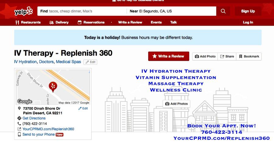 Experience Replenishment With IV Hydration Therapy LA Quinta CA