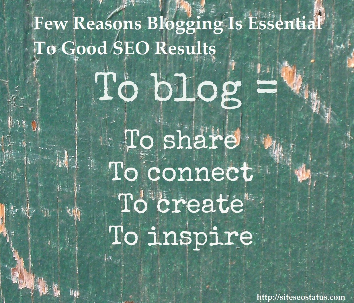 Few Reasons Blogging Is Essential To Good SEO Results | Use Google Analytics Seo Tools