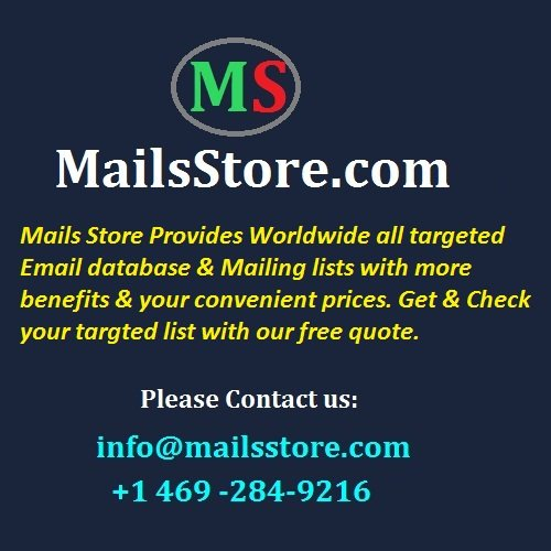 Industry Wise Email Lists & Mailing Lists With Assured Benefits