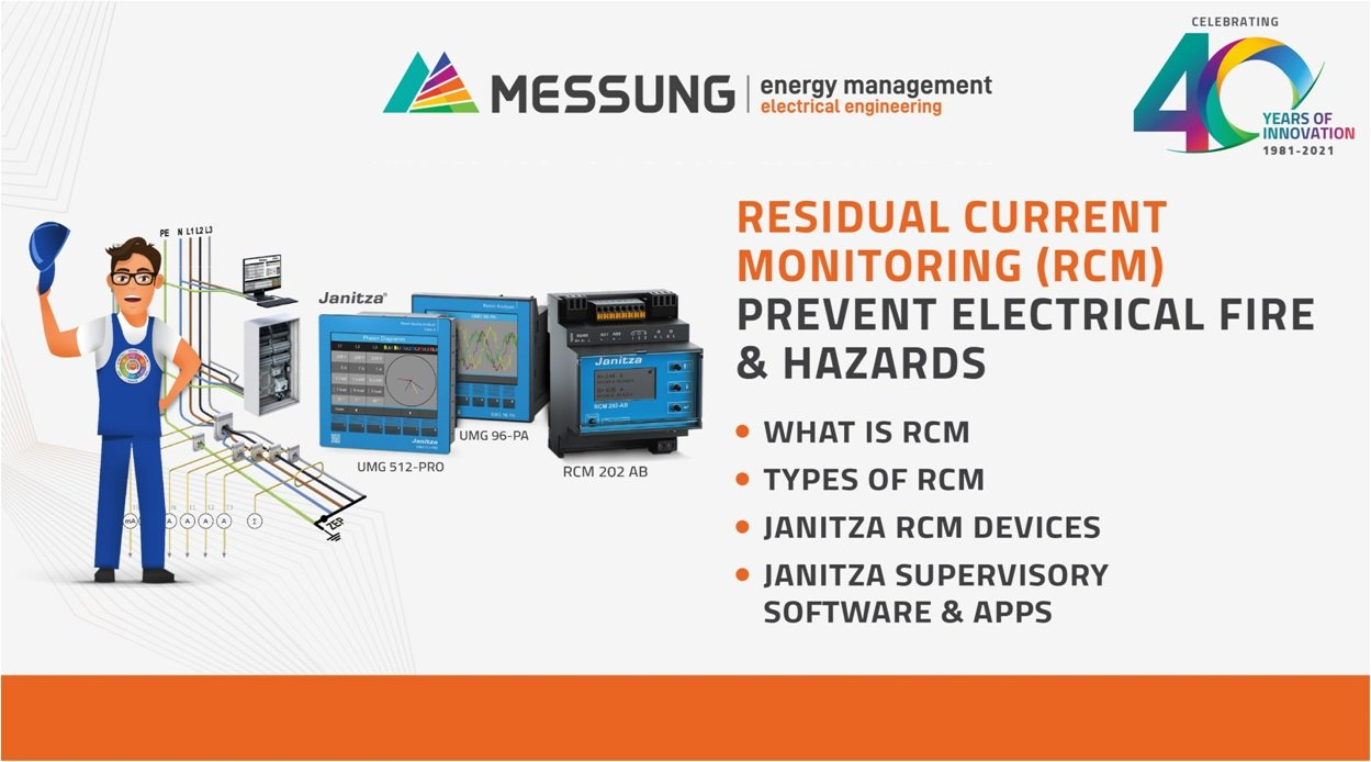 PREVENT ELECTRICAL FIRES & HAZARDS WITH RESIDUAL CURRENT MONITORING