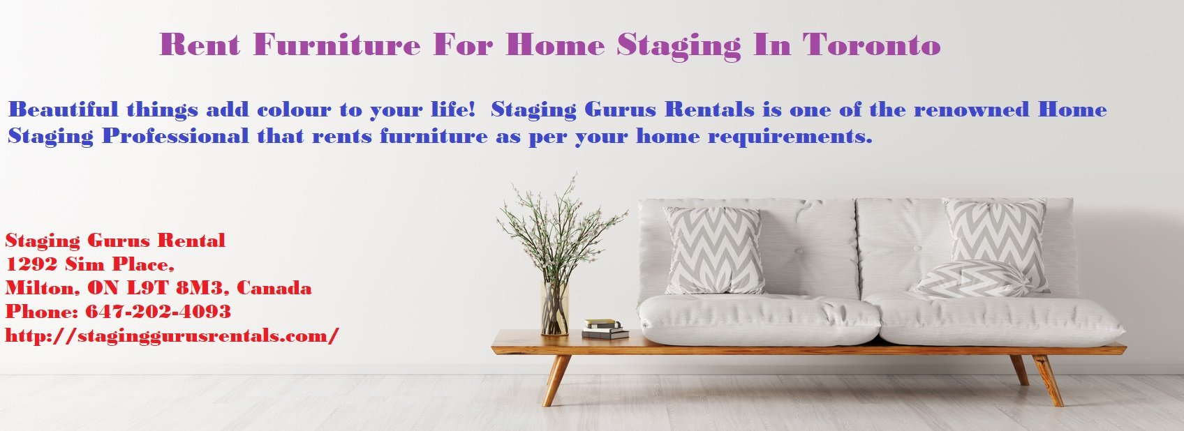 Rent Furniture For Home Staging In Toronto
