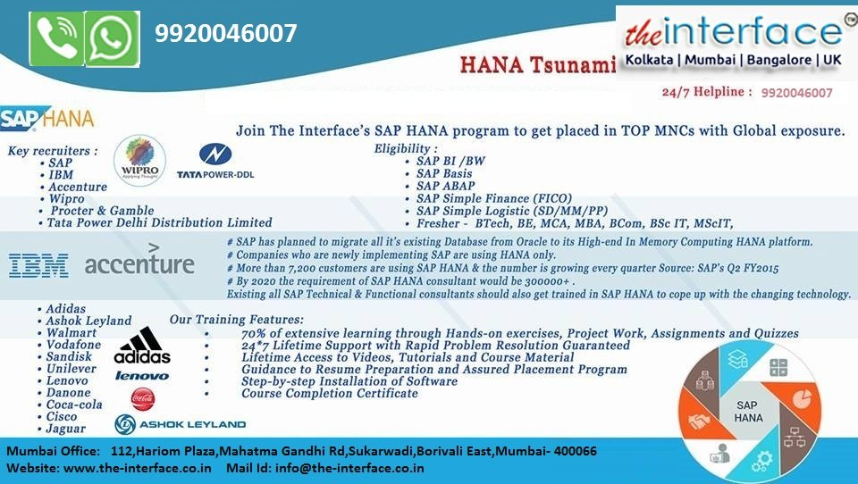 SAP Training In Mumbai With Placement