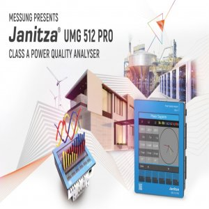 MESSUNG PRESENTS JANITZA UMG 512 PRO CLASS A POWER QUALITY ANALYSER