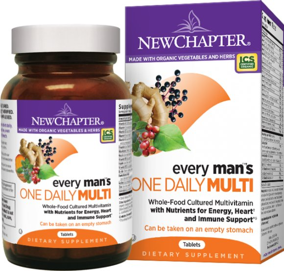 Support Your Heart, Hormone, And Prostate Health With New Chapter Every Man's One Daily!