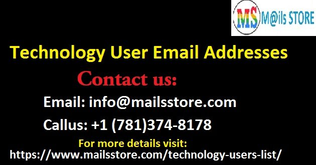 Technology Users Email List | Technology Users Mailing Database | Technology Leads