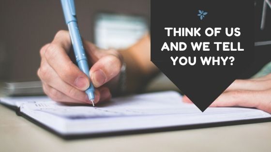 THINK OF US AND WE TELL YOU WHY?