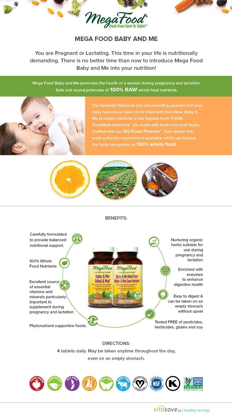 Use MegaFood Baby & Me Herb Free To Get The Most All-Natural Nutrition For You And Your Baby